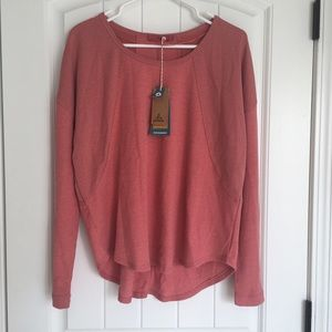 Prana Womens Remi Waffle Pullover Large NWT